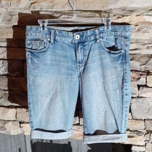 Calvin Klein women distressed denim Shorts